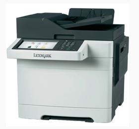 Farvelaser-multifunktionsprinter-Lexmark-CX510dk-A4-ADF